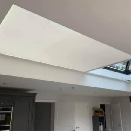 Electric roof lantern blinds opening -  windowtreat