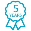 WindowTreat offer a 5 year warranty with our electric roof lantern blinds