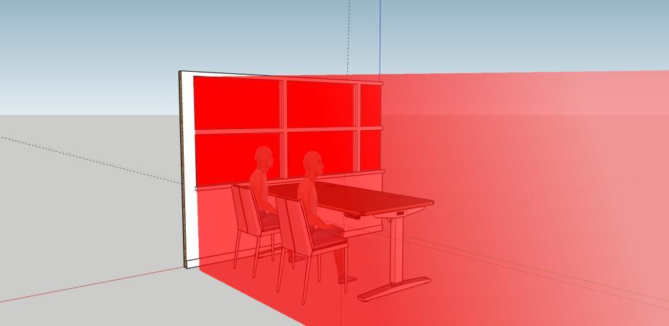 Example diagram of glazing with no window film